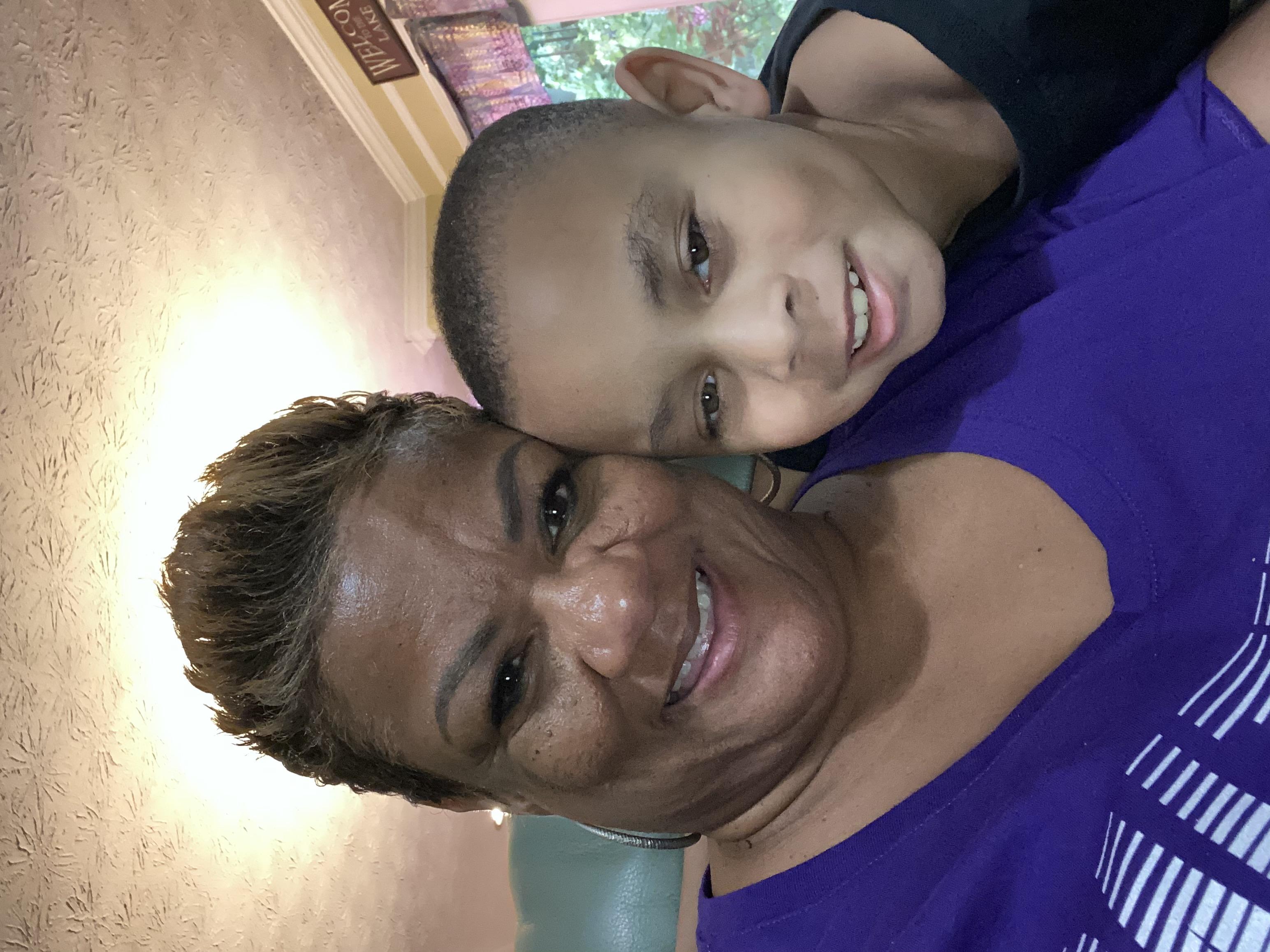Lisa Barns and her son